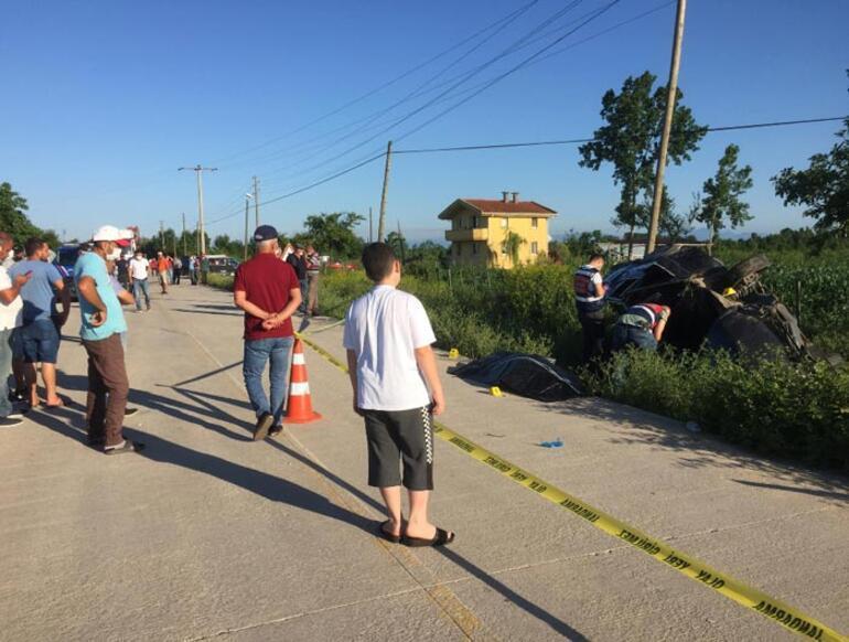 Otomobil şarampole devrildi 1 kişi hayatını kaybetti