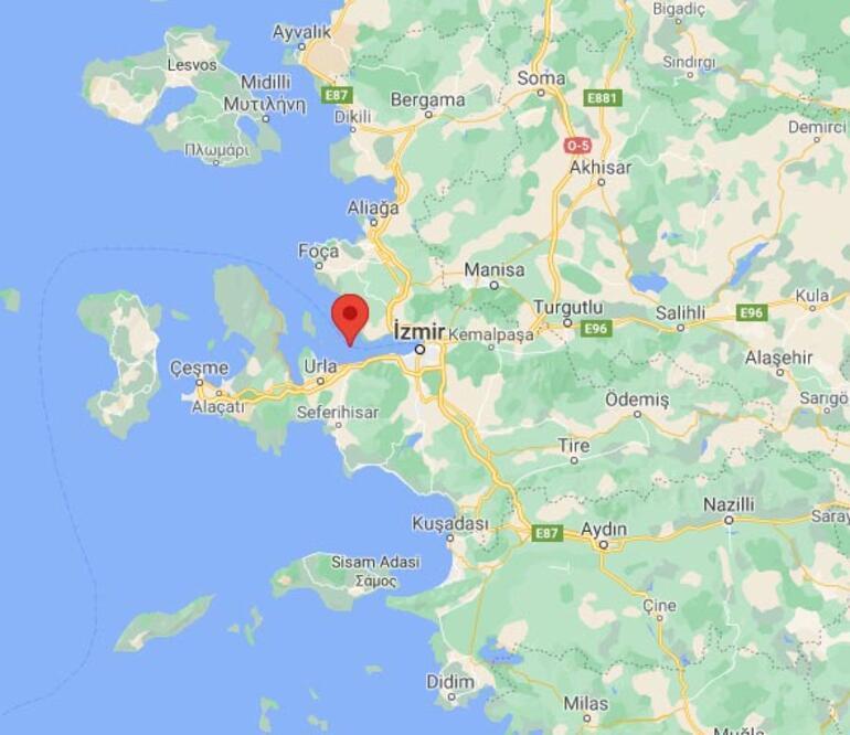 Son dakika İzmir Körfezinde deprem: Büyüklüğü...