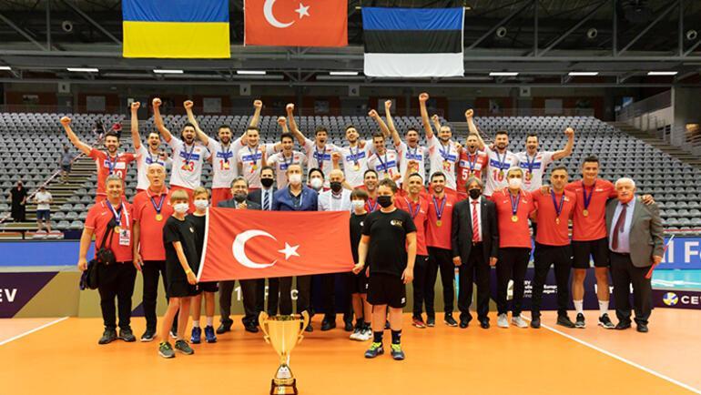 Son dakika - A Milli Erkek Voleybol Takımı, CEV Avrupa Altın Ligi şampiyonu