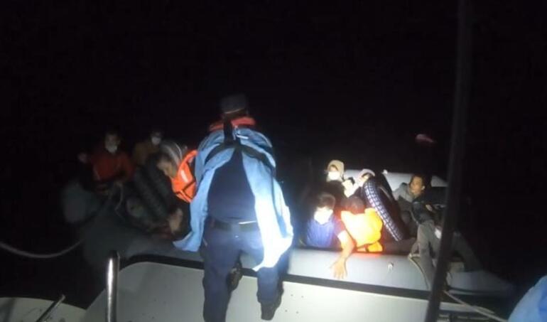 İzmirde 73 kaçak göçmen yakalandı