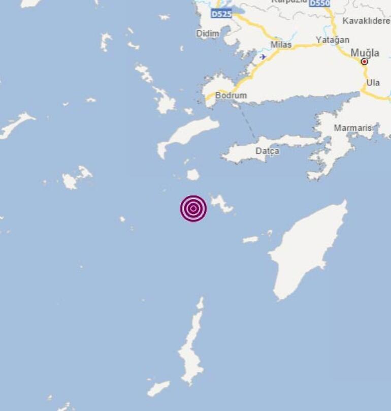 Son dakika Muğla açıklarında deprem: Büyüklüğü...