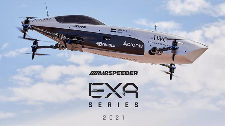 Dünyada bir ilk Uçan elektrikli yarış otomobili denemeden geçti