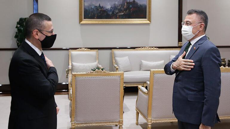 Cumhurbaşkanı Yardımcısı Oktay, Sayıştay Başkanı Başı kabul etti