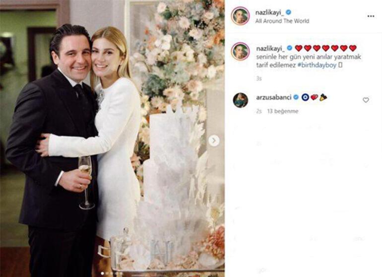 Nazlı Kayı nişanlısının doğum gününü böyle kutladı
