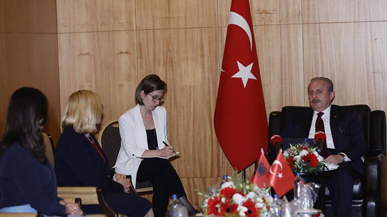 Meclis Başkanı Şentop, Arnavutluk Meclis Başkanvekili Hysi'yi kabul etti