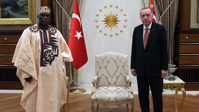 Gambiyanın Ankara Büyükelçisi Njie, Cumhurbaşkanı Erdoğana güven mektubunu sundu