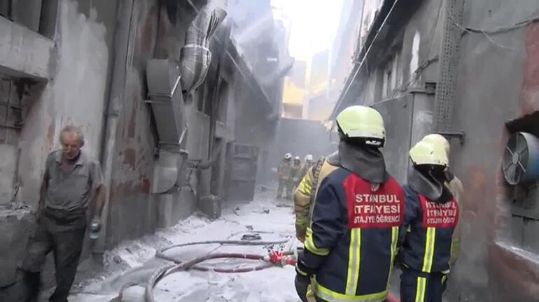 Son dakika: Bayrampaşada iş yerinde patlama Ekipler oraya koştu