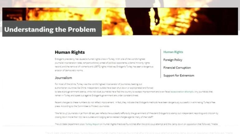 ABDde Türkiye karşıtı proje Cumhurbaşkanı Erdoğan aleyhinde propaganda yapılıyor
