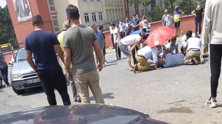 İstanbulda dehşet anları Müteahhitlerin kavgasında kan aktı