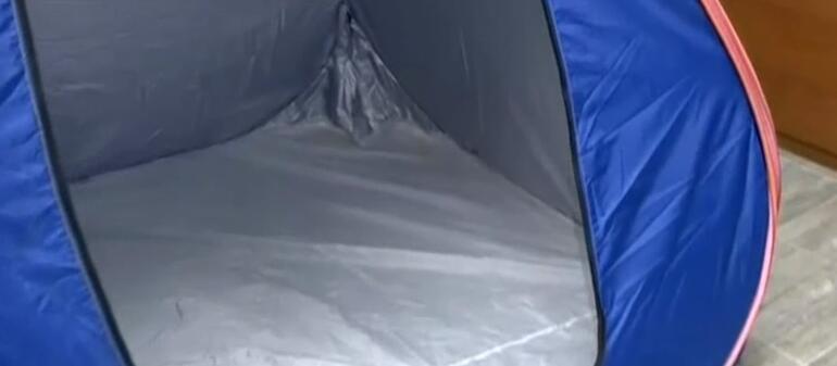 Bunu da yaptılar Kamp çadırında zehir sevkiyatı