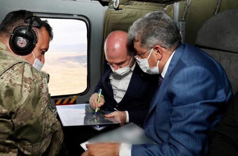 Bakan Soylu, Vanda askeri üs bölgesini ziyaret etti