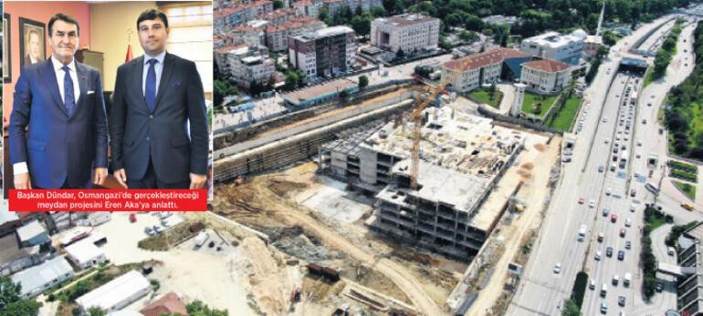 Bursanın yeni merkezi 'Osmangazi Meydanı'