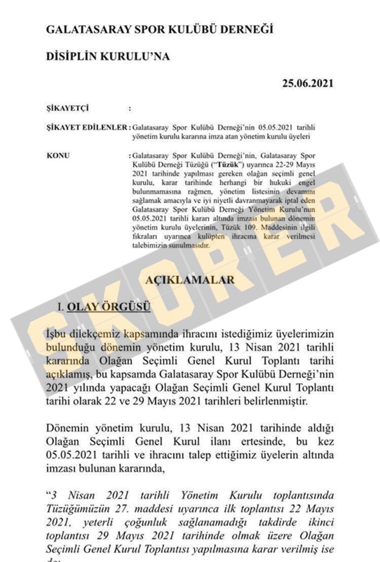 Son dakika - Galatasarayda dilekçe hazır Mustafa Cengiz ve yönetimi...