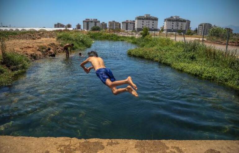 Antalyada sulama kanalında tehlikeli serinlik