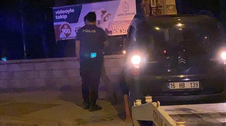 Polisin Dur ihtarına uymayan sürücü, mezarlık duvarına çarptı