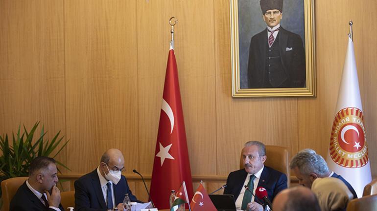 TBMM Başkanı Mustafa Şentop, Ürdün Temsilciler Meclisi Filistin Komitesi heyetini kabul etti: