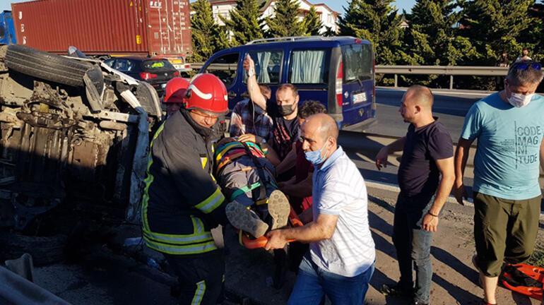 Anadolu Otoyolunda kaza 7 yaralı var