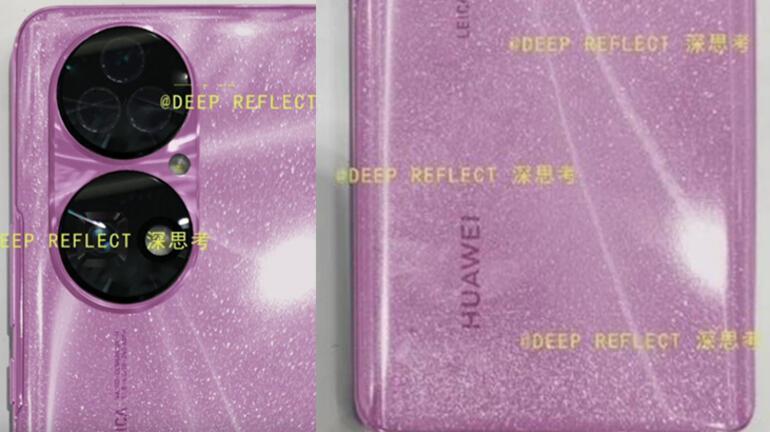 Huawei P50nin parlak pembe rengi ortaya çıktı