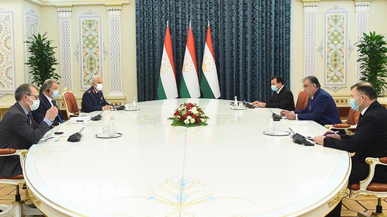 Bakan Akar, Tacikistan Cumhurbaşkanı ile görüştü