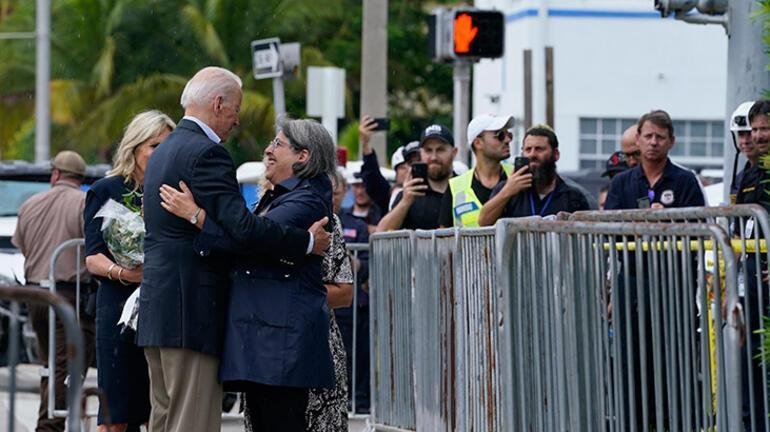 Biden Miamideki felaketin yaşandığı bölgeyi ziyaret etti