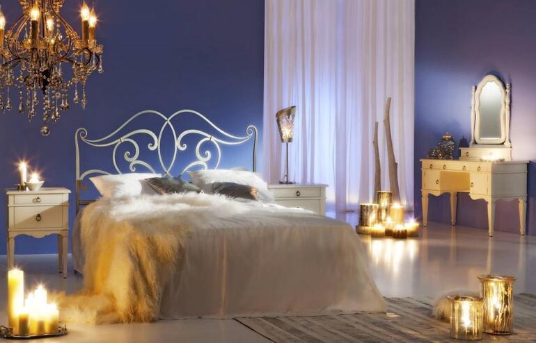 Romantik bir ebeveyn yatak odası için ipuçları