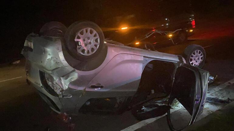Feci kaza Hız kadranı 120de takılı kaldı: 1i ağır 3 yaralı
