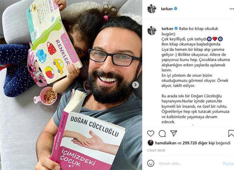 Tarkandan Liya paylaşımı: Baba kız kitap okuduk bugün