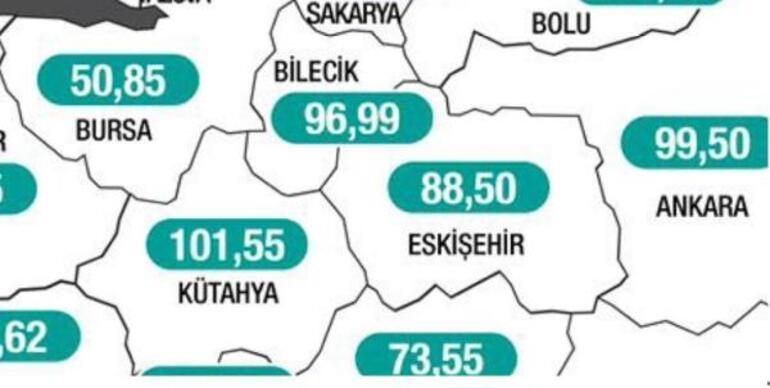 Eskişehir ve Kütahya'da vaka sayıları düştü, Bilecik'te arttı