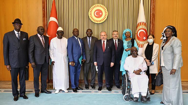 Meclis Başkanı Şentop, Senegal-Türkiye Parlamentolar Arası Dostluk Grubunu kabul etti