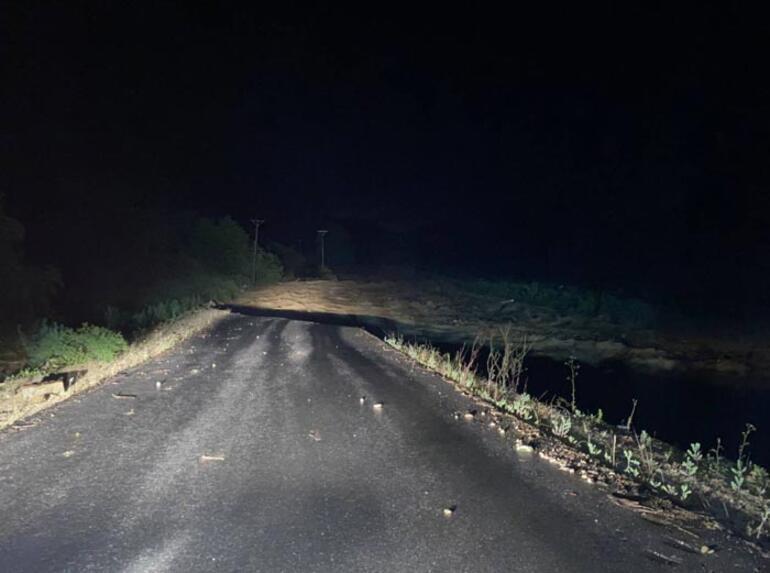 Düzcede derenin taşması nedeniyle yol çöktü Vali açıklama yaptı