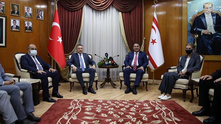 Cumhurbaşkanı Yardımcısı Oktay, KKTC Başbakanı Saneri ziyaret etti