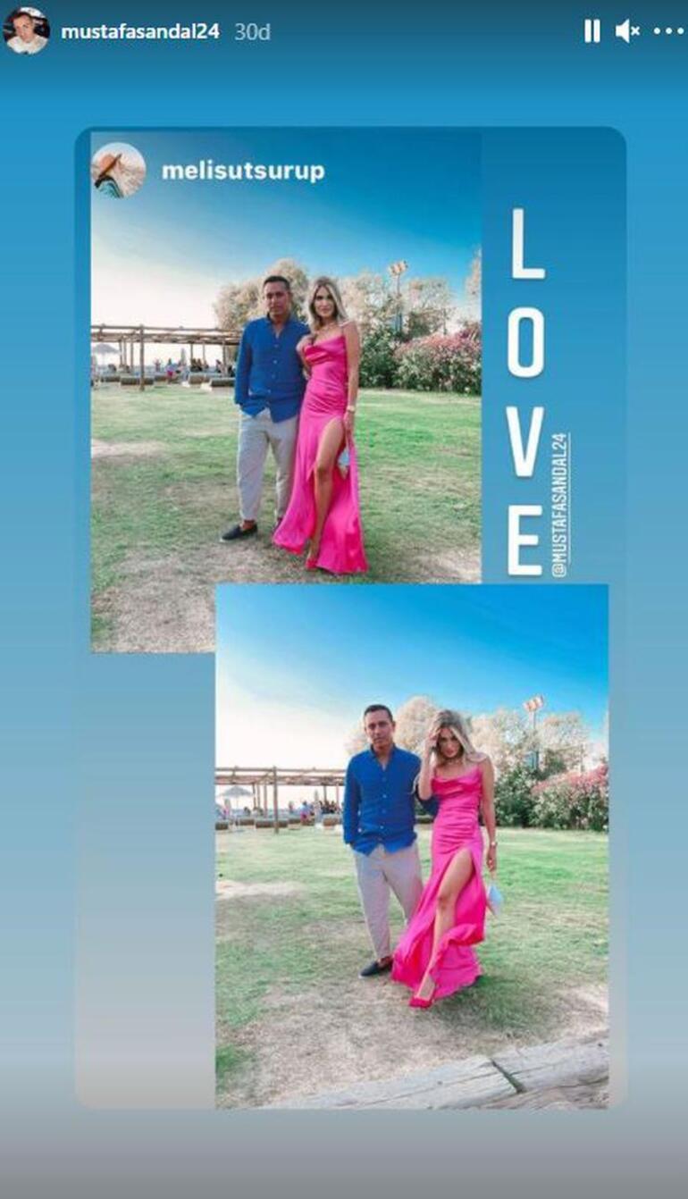 Mustafa Sandal ve Melis Sütşuruptan aşk pozu