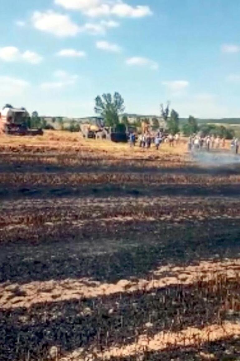 Kopan elektrik telleri neden oldu Alev alev yandı
