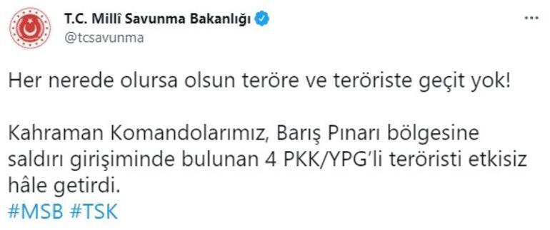 Barış Pınarı bölgesine saldıracaklardı Etkisiz hale getirildiler