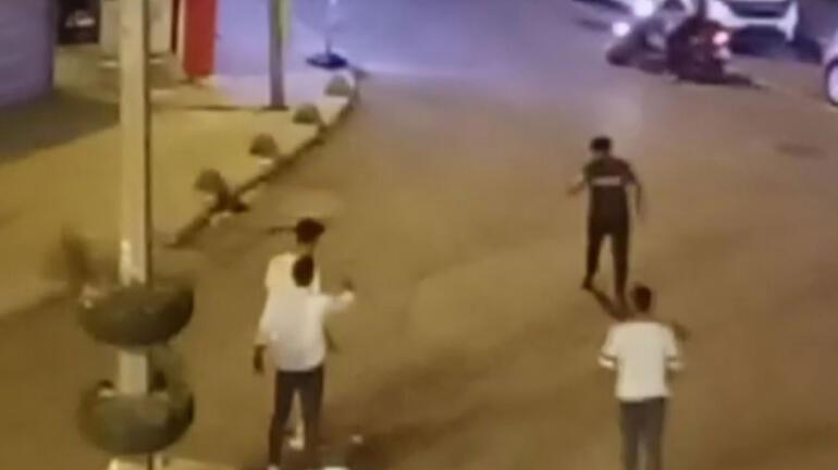Dehşet anları Döner bıçaklı kavga saniye saniye kaydedildi