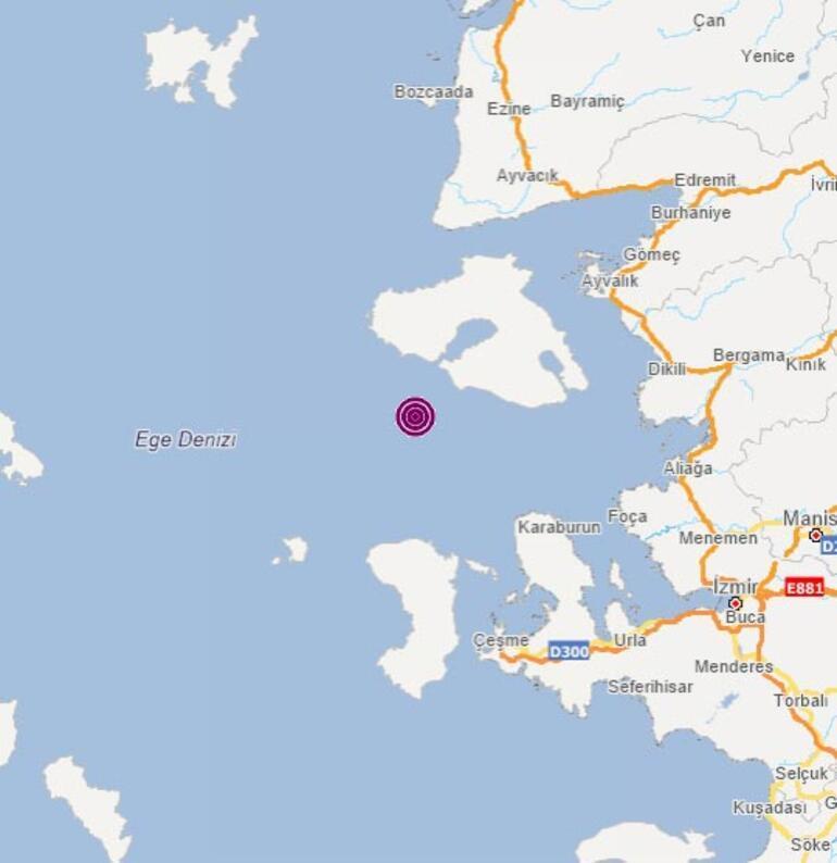 Son dakika İzmir Karaburun açıklarında deprem