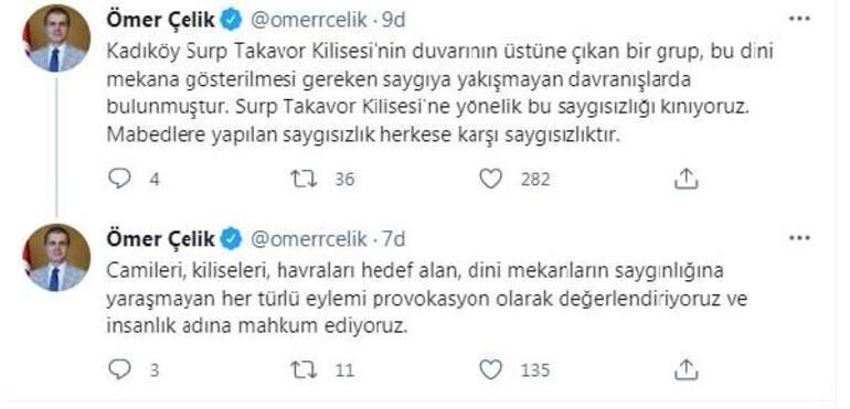 AK Partili Çelik: Mabetlere yapılan saygısızlık herkese karşı saygısızlıktır