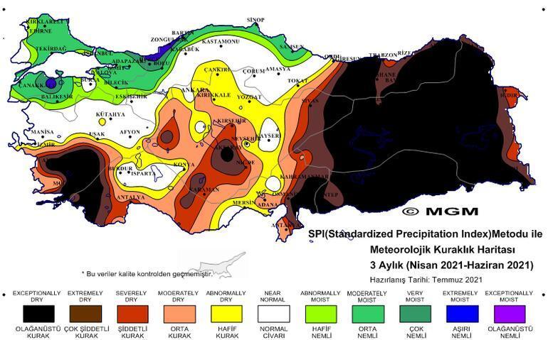 Son dakika haberleri Türkiyeyi korkutan harita Ambarı vurdu