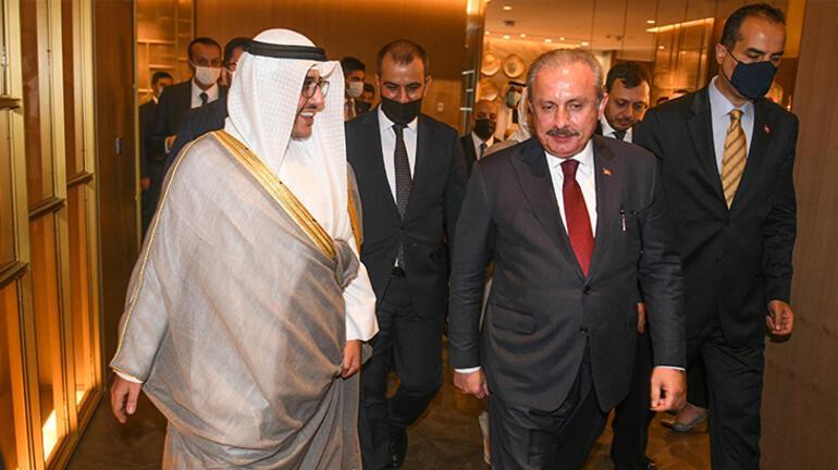 Meclis Başkanı Şentop Kuveytte Dışişleri Bakanı es-Sabahı kabul etti