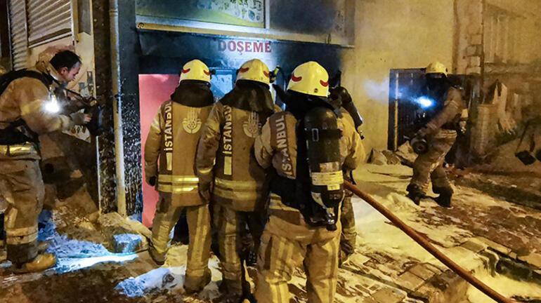 Esenyurtta korkutan yangın Ekipler oraya koştu