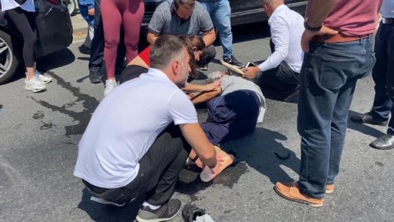 Üsküdarda akülü arabayla yolun karşısına geçerken otobüsün çarptığı engelli yaralandı