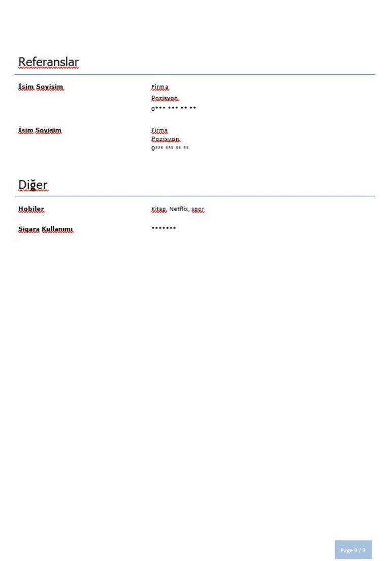 CV Örnekleri: Özgeçmiş Nasıl Hazırlanır, Neler Olmalıdır