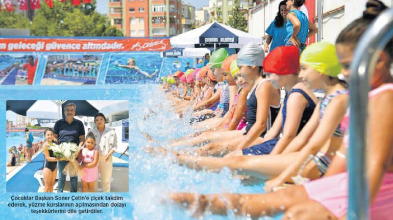 Çukurova'da havuzlar çocuklarla şenlendi