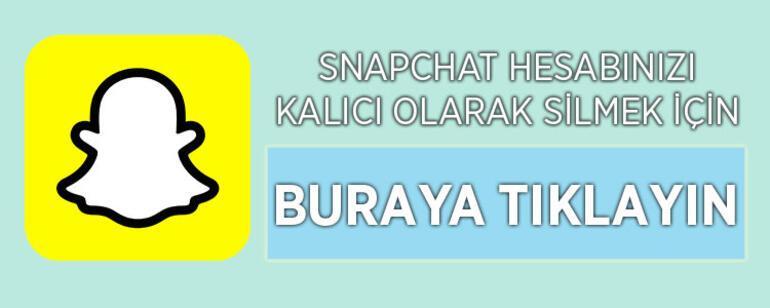 Snapchat Hesap Silme Linki 2021: Snapchat Hesabı Kalıcı Olarak Nasıl Silinir