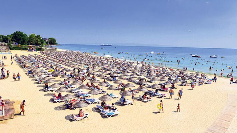 Şehirde plaj keyfi