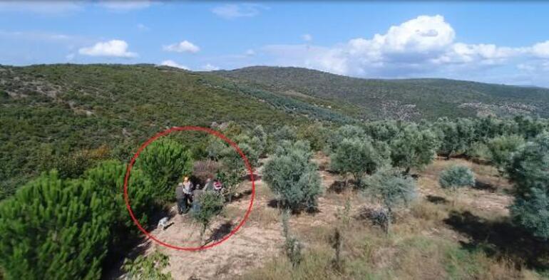 Dronela yakalandılar Göz açtırılmıyor, 2 kişi ormanda...
