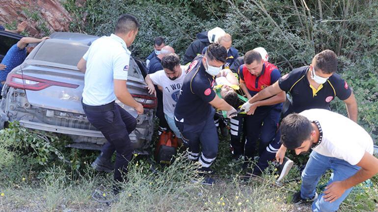 Yozgatta otomobil devrildi: 1 ölü, 4 yaralı