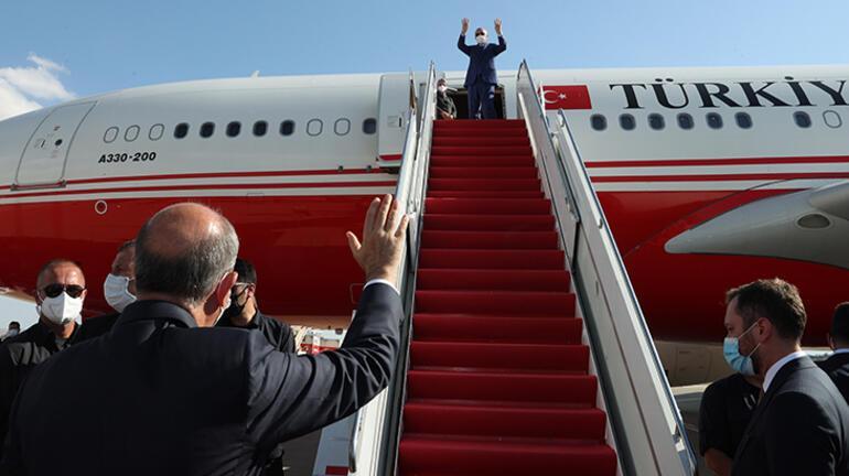 Cumhurbaşkanı Erdoğan, KKTCden ayrıldı