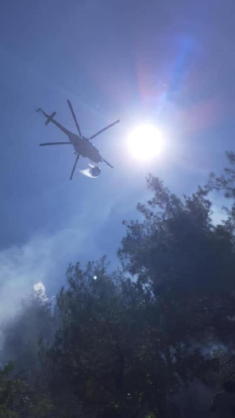 Manisada orman yangını; 1 hektar alan zarar gördü
