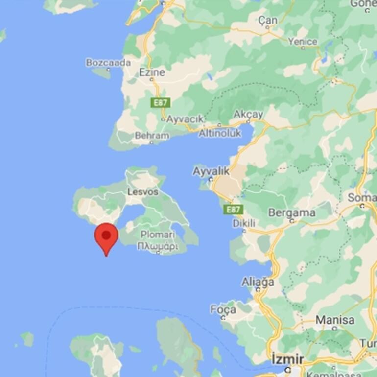 Son dakika İzmir açıklarında korkutan deprem